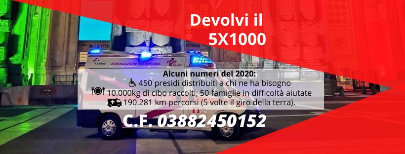 Devolvi il tuo 5x1000 a Sos Milano